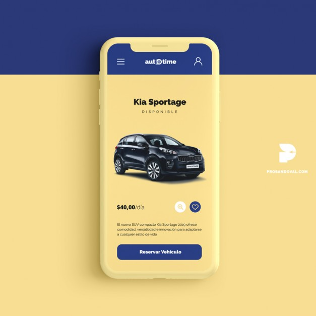 Diseño página web para alquiler de autos Ecuador