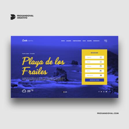 Diseño página web para cabañas de playa
