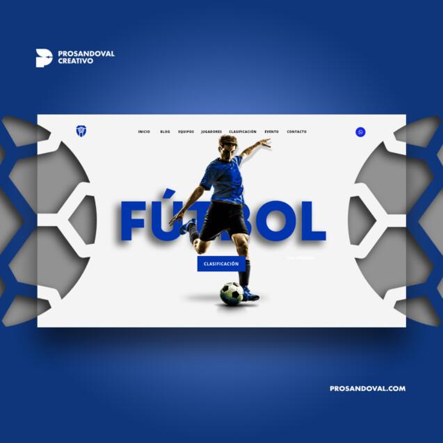 Diseño página web para campeonatos ecuador prosandoval