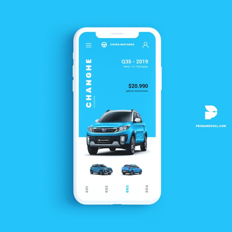 Diseño página web para concesionario de autos móvil