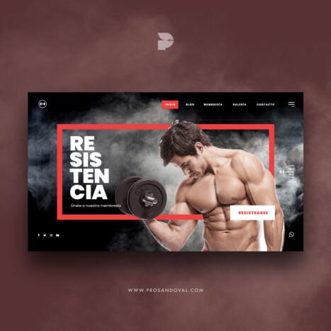 Diseño página web para crossfit