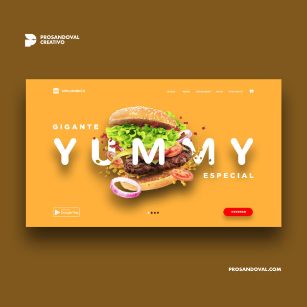 Diseño página web para delivery