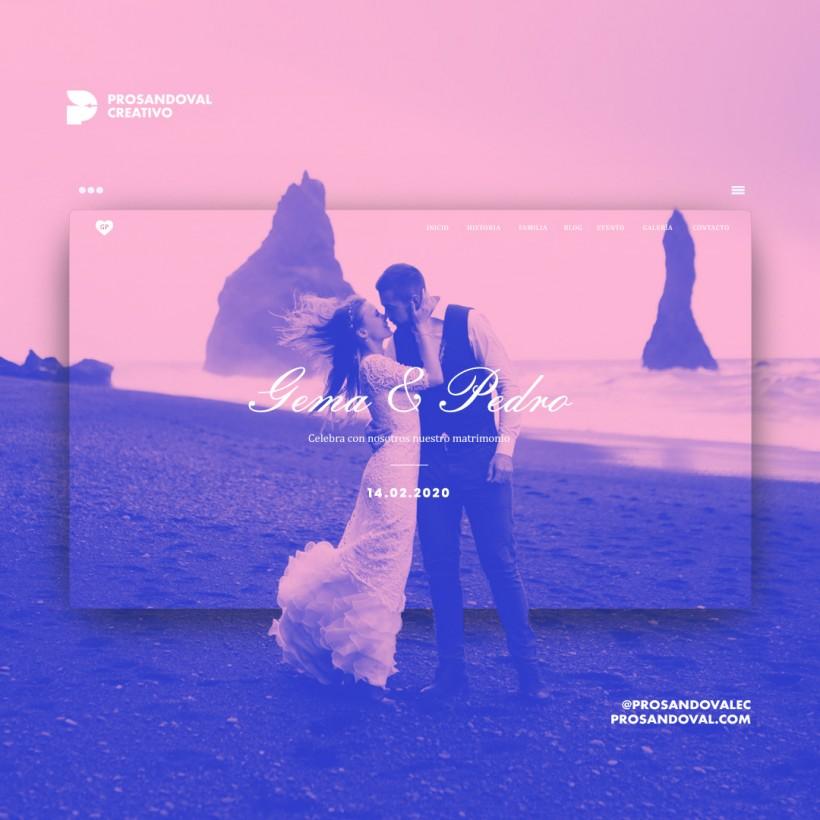 Diseño página web para enamorados