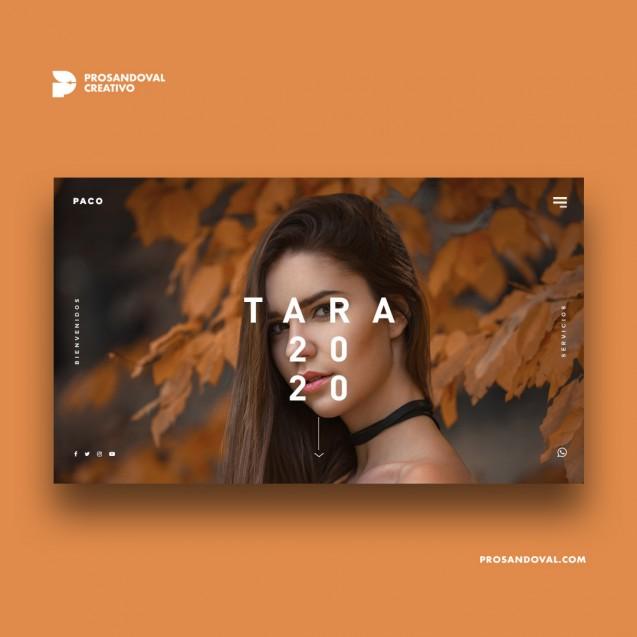 Diseño página web para estudio fotográfico