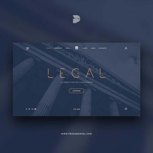 Diseño página web para estudios jurídicos