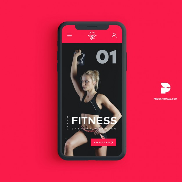 Diseno pagina web para fitness club