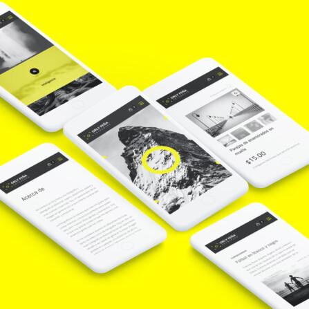 Diseño página web para fotografía Orly