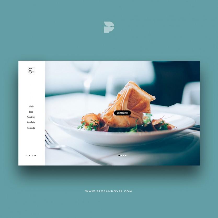 Diseño página web para fotografía gastronómica