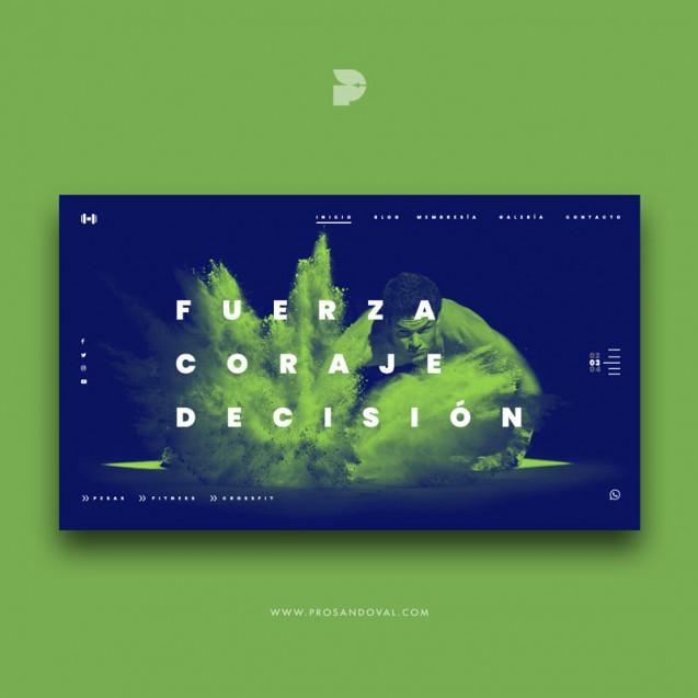 Diseño Página web para gimnasio Gymgreen Ecuador