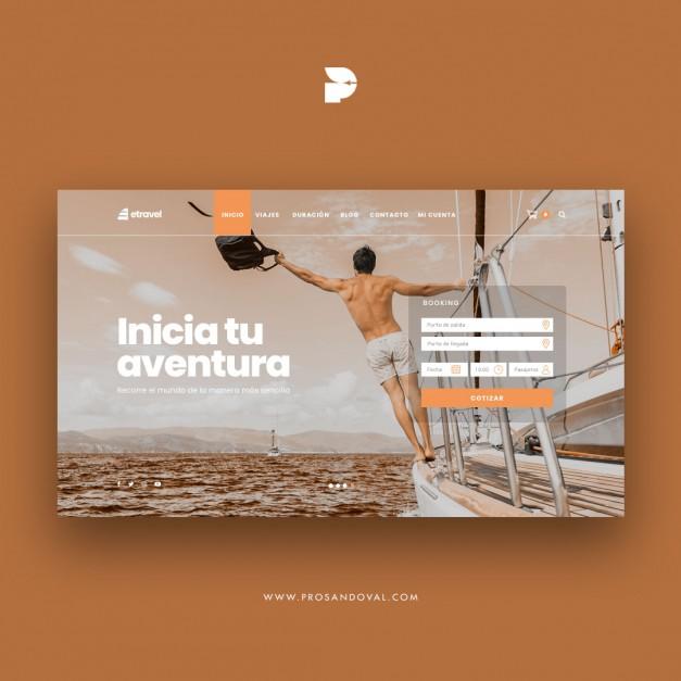 Diseño página web para paquetes turísticos