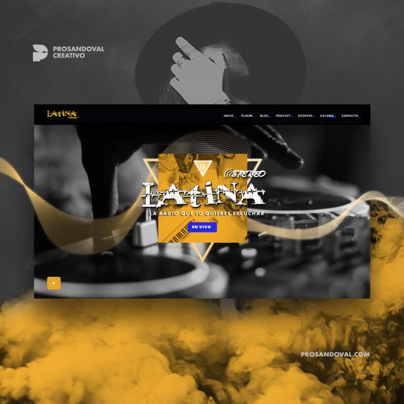 Diseño página web para radio shoutcast