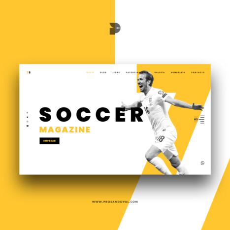 Diseño página web para revista deportiva