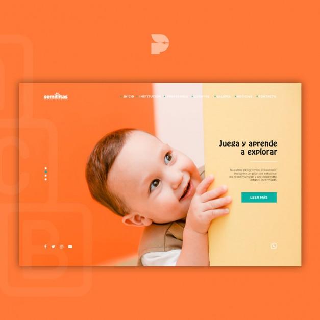 Diseño página web para escuelas Semillitas