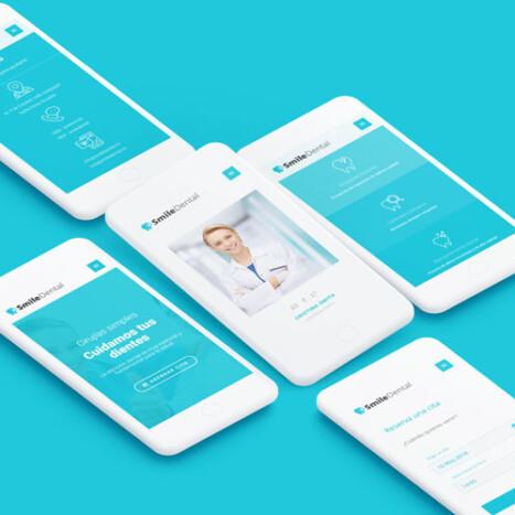 Diseño página web para doctores Smiledental