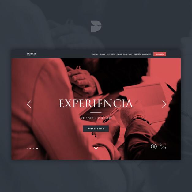 Diseño página web para abogados Torres