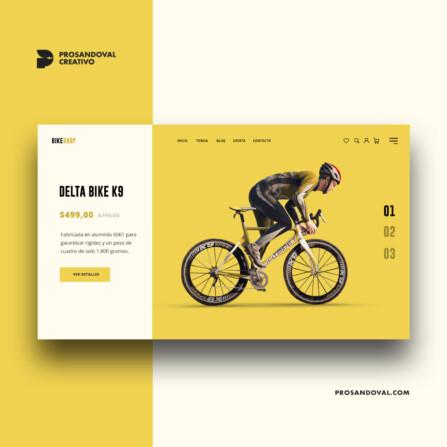 Diseno tienda de accesorios para bicicletas