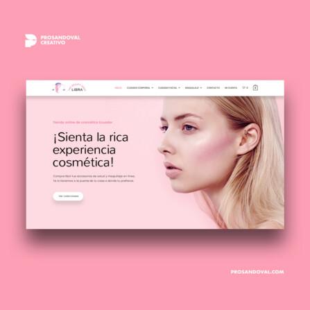 Diseño tienda online cuidado de la piel