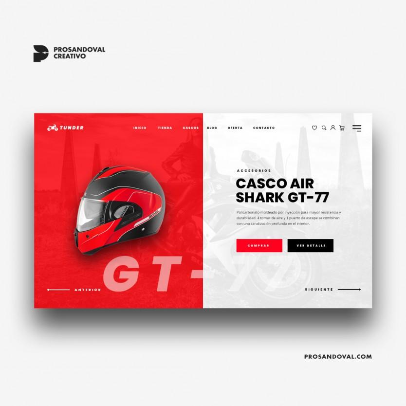 Diseño tienda online de accesorios para motos