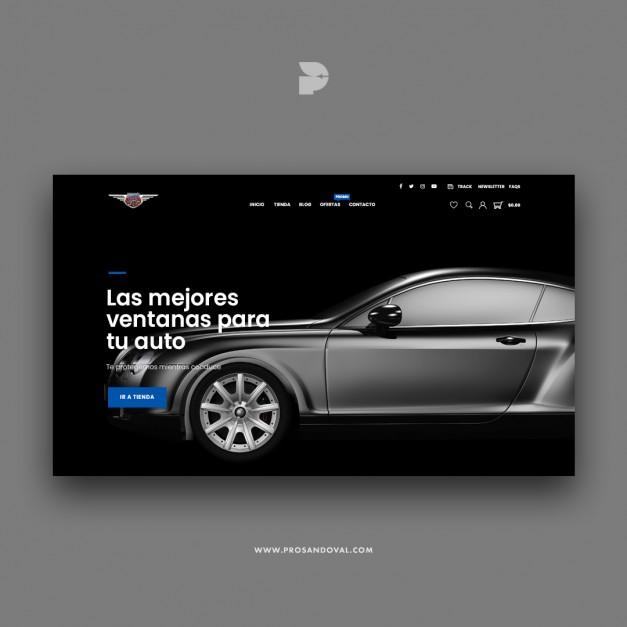 Diseño tienda online de autopartes