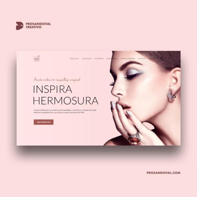 Diseño tienda online de cosmética original