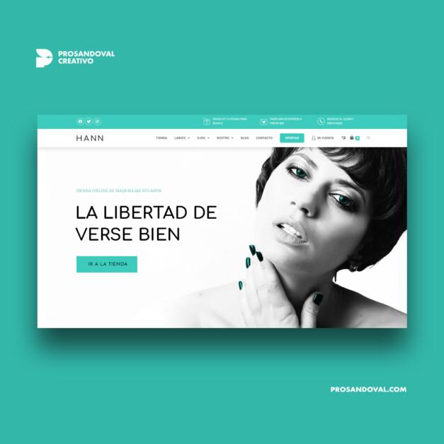 Diseño tienda online de cosméticos Hann Store rediseño