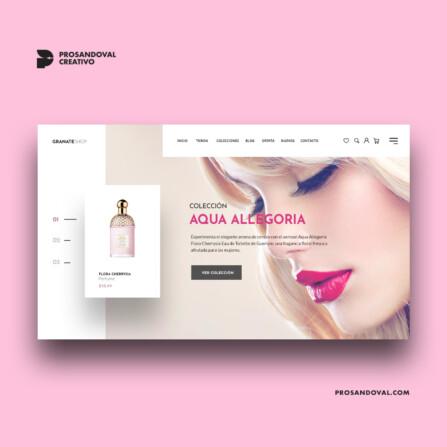 Diseño tienda online de fragancias y perfumes