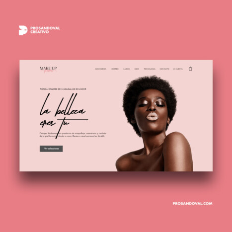 Diseño tienda online de maquillaje makeup