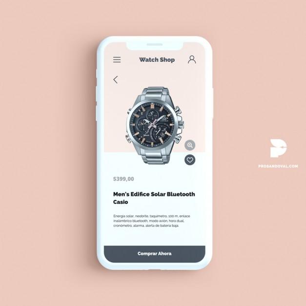 Diseño tienda online de relojes
