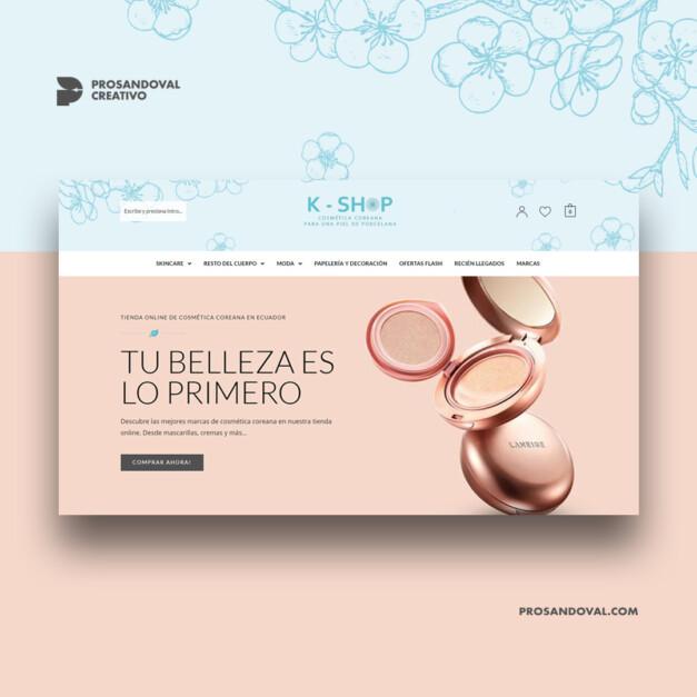 Diseño tienda online para belleza y bienestar