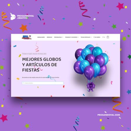 Diseno tienda online para decoracion y fiesta