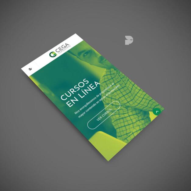 Diseño web para cursos online Cega
