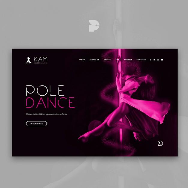 Diseño página web para pole dance Kam