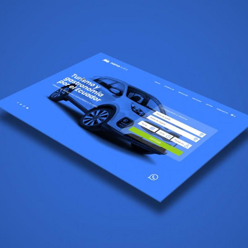 Diseño página web para taxis ejecutivo Nanoautos páginas web ecuador