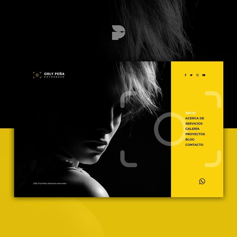 Diseño página web para fotos Orly