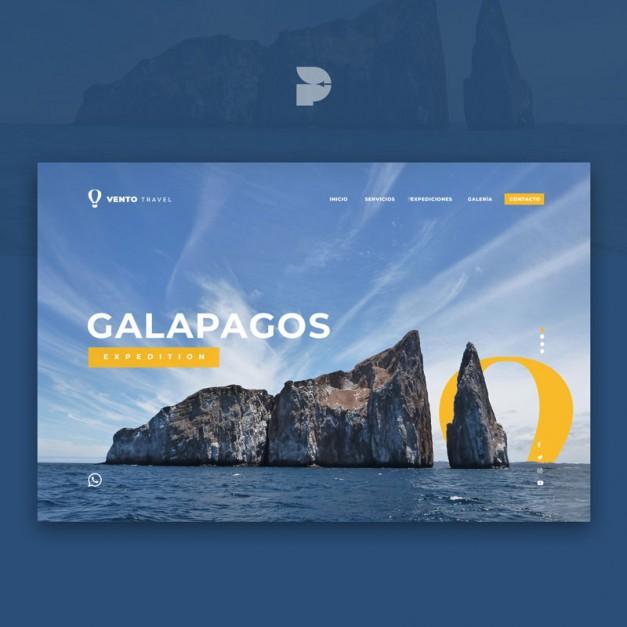 Diseño página web para reservas Vento travel