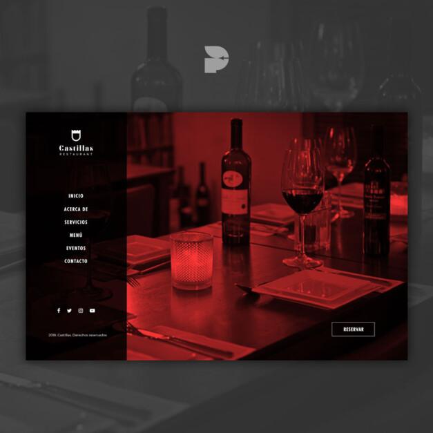 Diseño web para restaurante Castillas