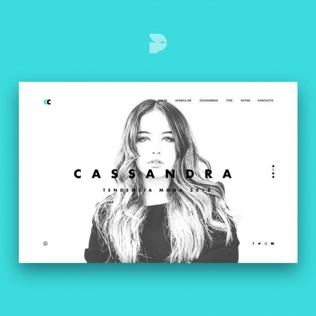 Diseño tienda online para vestidos Cassandra