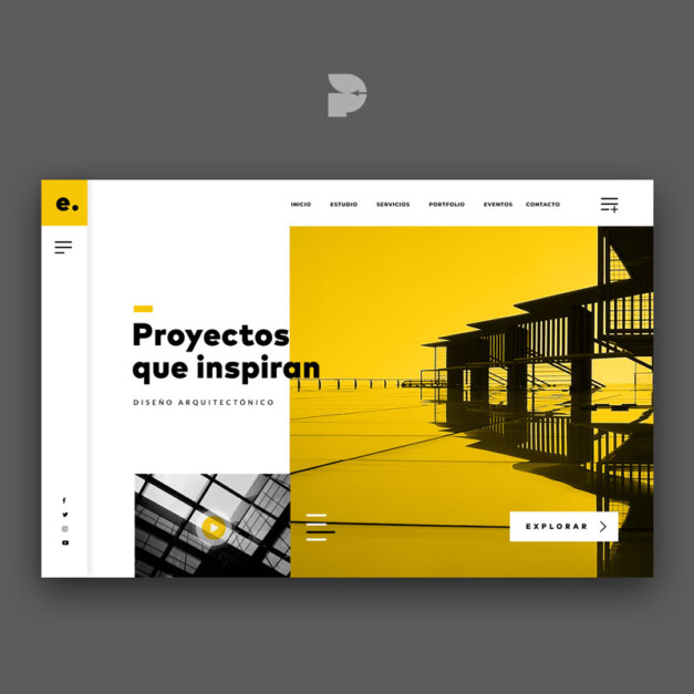 Diseño página web para interiores Edifika