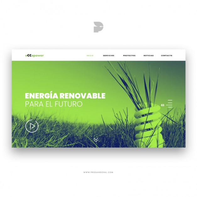 Diseño pagina web ecológico Eccopower ambiental