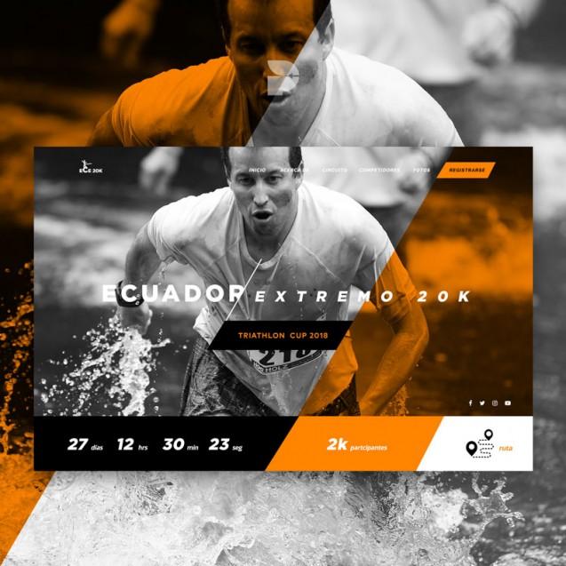 Diseño página web para atletismo Ece 20k
