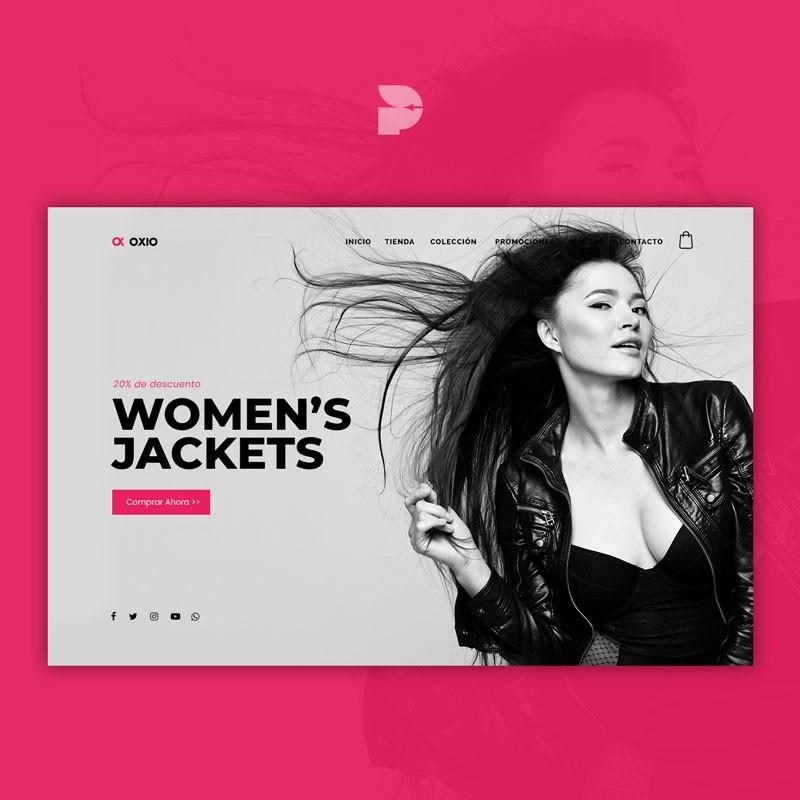 Diseño tienda online de chaquetas Oxio store