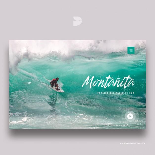 Diseño página web de noticias Montañita