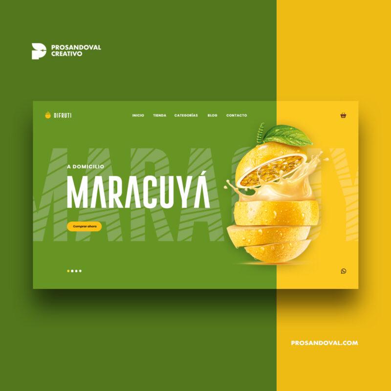 Diseño página web de frutas a domicilio