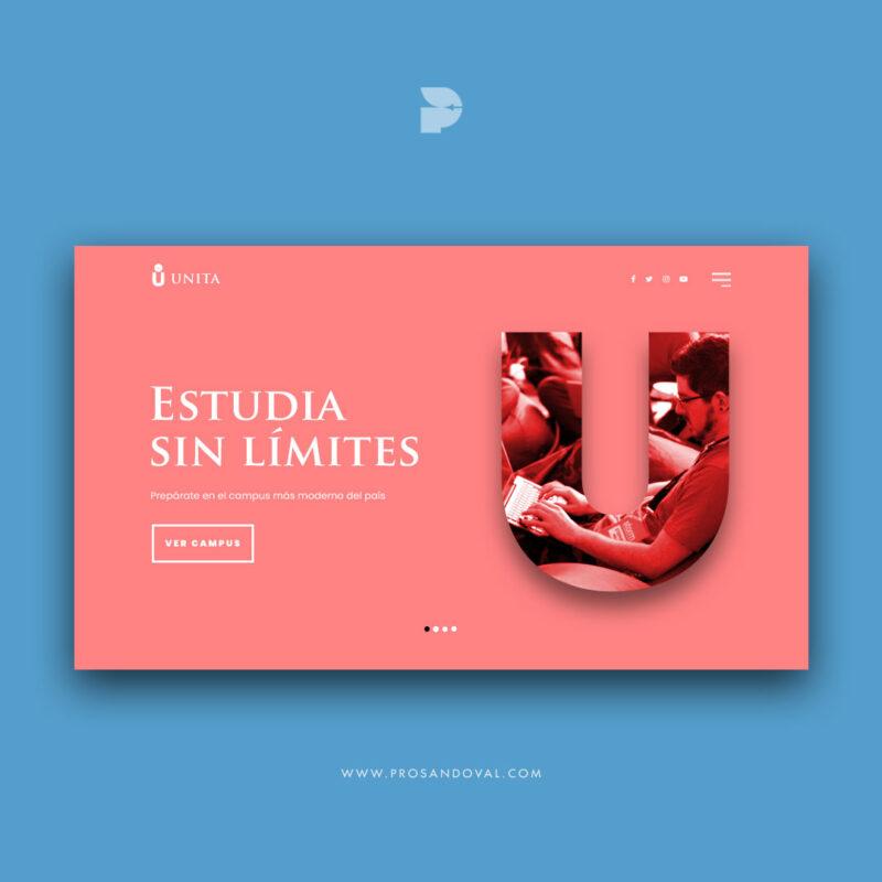 Diseño página web para Universidades Unita