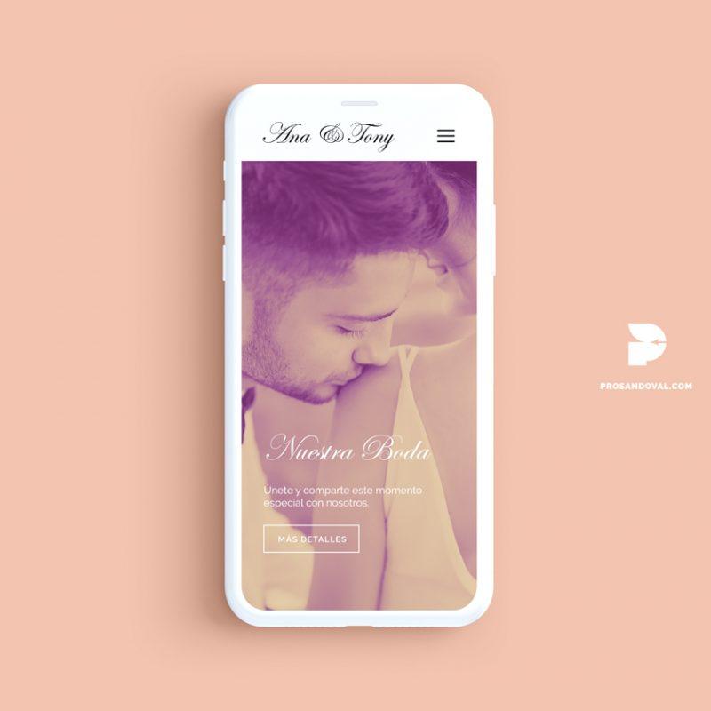 Diseño página web para bodas