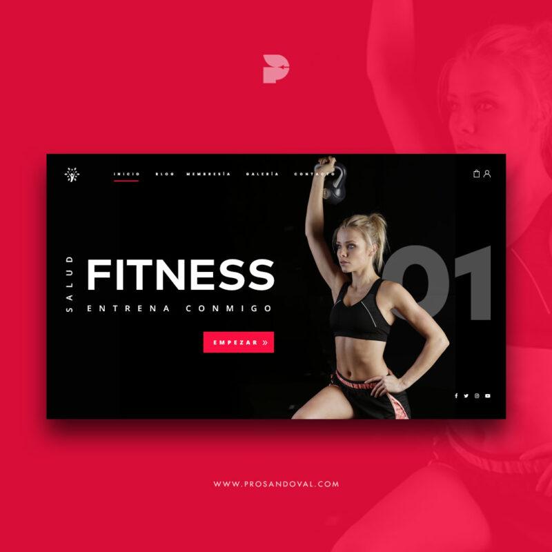 Diseño pagina web para fitness club ordenador