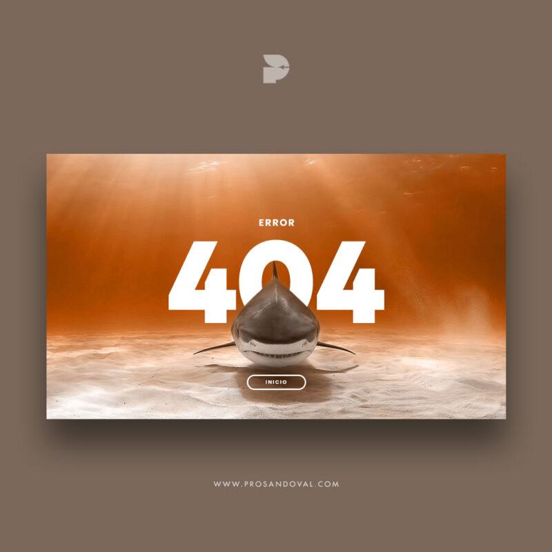 Diseño página web para paquetes turísticos 404