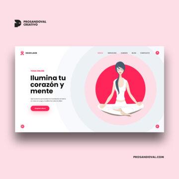 Diseño página web para yoga online