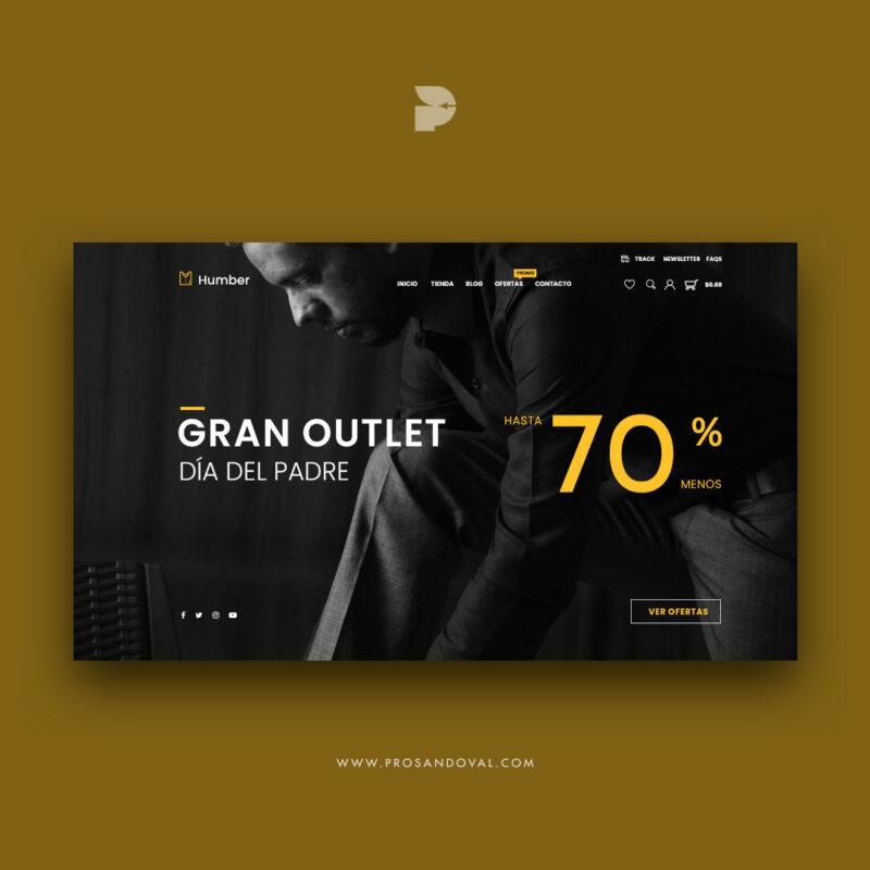 Diseño tienda online de ropa de hombre