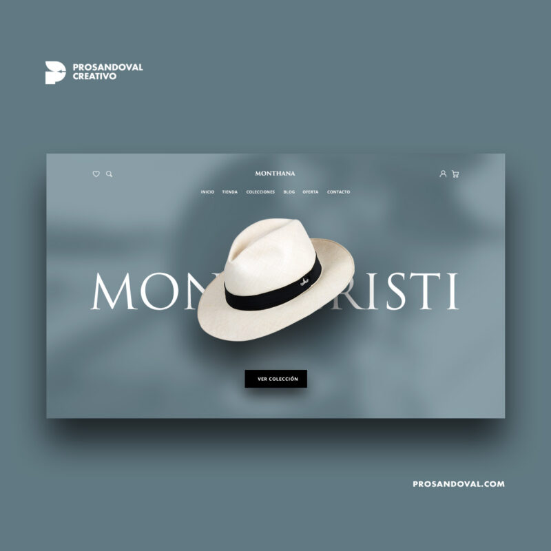 Diseño tienda online de sombreros